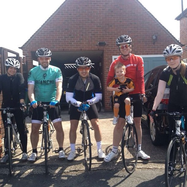 Team shot with Luke the team mascot before our 60 miler