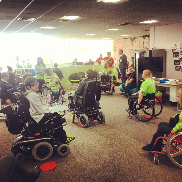 Watching Team Whizz Kidz show off their wheelchair skills. Awesome.